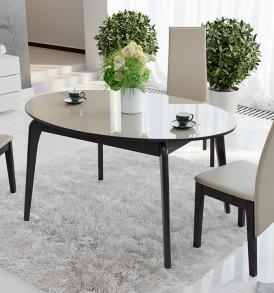 Стол обеденный раздвижной со стеклом «Марсель» СМ(Б)-102.01.12(1)
