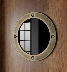 Шкаф угловой с иллюминатором «Навигатор» СМ-250.07.23