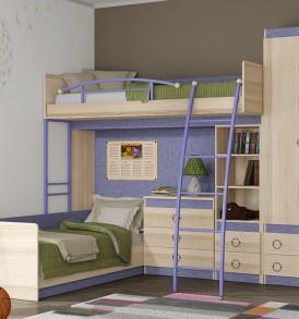 Набор мебели для детской комнаты «Индиго» №16 ГН-145.016