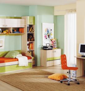 Набор мебели для детской комнаты «Киви» №13 ГН-139.013