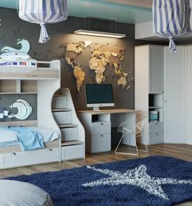 Набор мебели для детской комнаты «Ривьера» №2 ГН-241.102