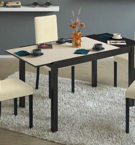 Стол кухонный раскладной со стеклом «ДиезТ4» С-345