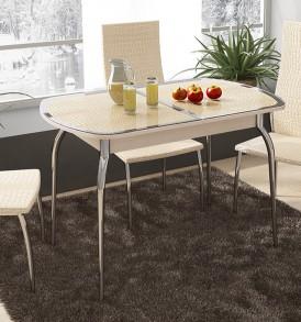 Стол обеденный раздвижной с хромированными ножками «Ницца» СМ-217.01.1