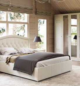 Двуспальная мягкая кровать с подъемным механизмом «Адель» СМ-300.01.11(5)
