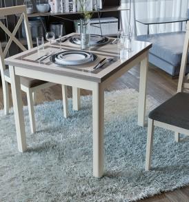 Стол обеденный раздвижной со стеклом «Мельбурн» СМ (Б)-100.05.12(1)