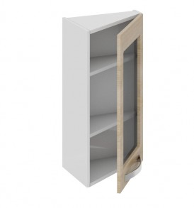 Шкаф верхний торцевой со стеклом ВТ_72-40(45)_1ДРс