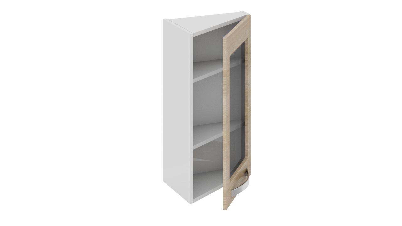 Шкаф верхний торцевой со стеклом вт_72-40(45)1дрс купить в н.