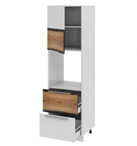 Шкаф пенал под бытовую технику с 2-мя ящиками (левый) ПБ2я_204-60_2Я1ДР(А)