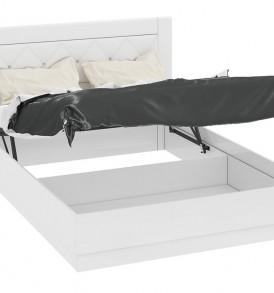 Кровать 1400 с подъемным механизмом с мягкой спинкой со стразами «Амели» СМ-193.02.002