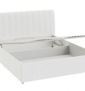 Двуспальная кровать с мягкой спинкой с подъемным механизмом «Адель» СМ-300.01.13(5)