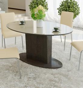 Стол обеденный раздвижной со стеклом «Марсель» СМ(Б)-102.01.12(2)
