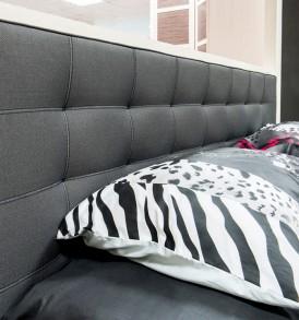Двуспальная кровать с мягкой спинкой «Сити» СМ-194.01.003-М