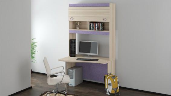 Детский письменный угловой стол с надстройкой «Индиго» №11 ГН-145.011