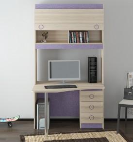 Детский письменный угловой стол с надстройкой «Индиго» №13 ГН-145.013