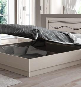 Двуспальная кровать с подъемным механизмом и широкой вставкой «Токио» СМ-131.12.003