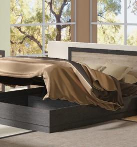 Двуспальная кровать 1400 с широкой вставкой и подъемным механизмом «Токио» СМ-131.13.003