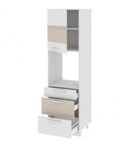 Шкаф пенал под бытовую технику (3-хящ.системы) с 3-мя ящиками (левый) ПБ(3)3я_204-60_3Я1ДР(А)