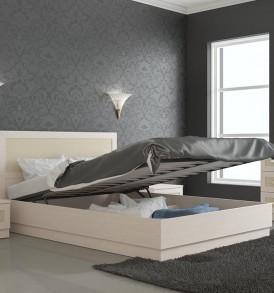 Двуспальная кровать с подъемным механизмом 1400 «Сакура» СМ-183.02.002