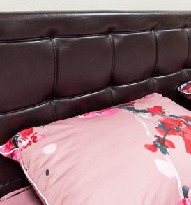 Двуспальная кровать 1400 с подъемным механизмом и мягкой спинкой «Токио» СМ-131.13.002