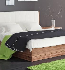 Двуспальная подъемная кровать с мягкой спинкой «Рио» ПМ-149.12