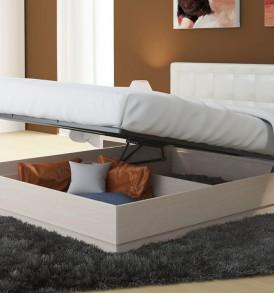 Двуспальная подъемная кровать с мягкой спинкой «Токио» СМ-131.12.002