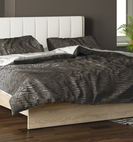 Двуспальная кровать с мягким изголовьем «Ларго» СМ-181.01.002