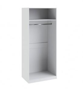 Шкаф для одежды с 1-ой глухой и 1-ой с зеркальной дверью «Ривьера» СМ 241.07.002 L