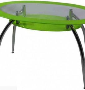 Стол обеденный «ДТ-445″ (черное овал стекло)