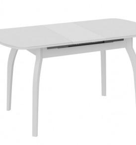 Стол обеденный раздвижной со стеклом на деревянных ножках «Милан» СМ-203.22.15