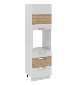 Шкаф пенал под бытовую технику (3-хящ.системы) с 3-мя ящиками (правый) ПБ(3)3я_204-60_3Я1ДР(Б)