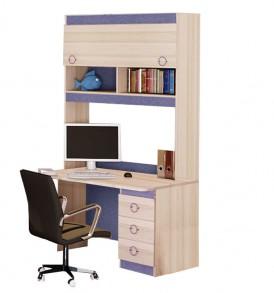 Детский письменный стол с надстройкой «Индиго» №12 ГН-145.012