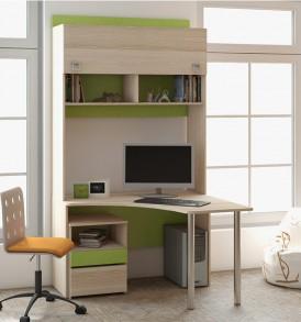 Детский письменный угловой стол с надстройкой «Киви» № 9 ГН-139.009
