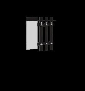 Вешалка с крючками и зеркалом «Арт»
