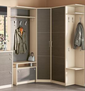 Набор мебели для угловой прихожей «Нова» №1 ГН-156.001