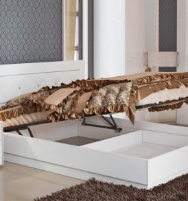 Двуспальная подъемная кровать с мягкой вставкой «Амели» СМ-193.01.006