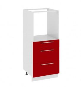 Шкаф комбинированный под бытовую технику с 3-мя ящиками КБ(3)3я_132(72)-60_3Я