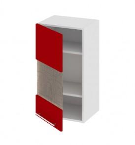Шкаф верхний со стеклом (левый) В_72-40_1ДРс(А)