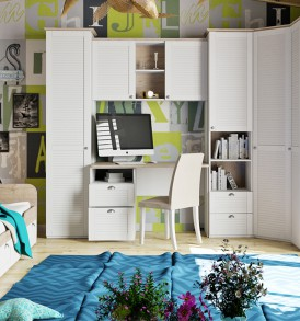 Набор мебели для детской комнаты «Ривьера» №3 ГН-241.103