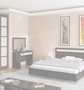 Шкаф для одежды с 1-ой глухой и 1-ой зеркальной дверью «Токио» СМ-131.08.005
