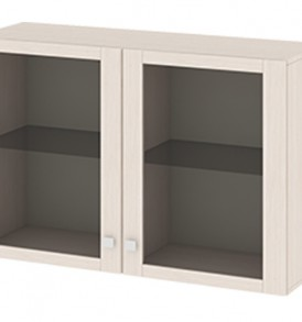 Антресоль малая с 2-мя дверями со стеклом «Фиджи» Ам(05)_31(2)