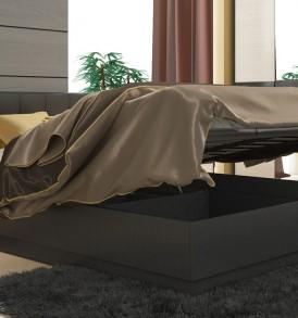 Двуспальная подъёмная кровать с мягкой спинкой «Сити» СМ-194.01.004