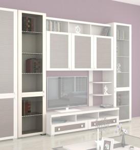 Шкаф комбинированный с 2-мя дверями со стеклом «Фиджи» ШК(07)_32-31_18