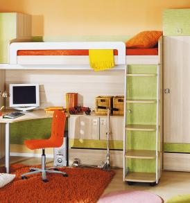 Набор мебели для детской комнаты «Киви» №15 ГН-139.015