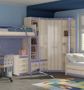 Набор мебели для детской комнаты «Индиго» №18 ГН-145.018