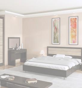 Шкаф для одежды с 1-ой глухой и 1-ой зеркальной дверью с кромкой ПВХ «Токио» СМ-131.08.007