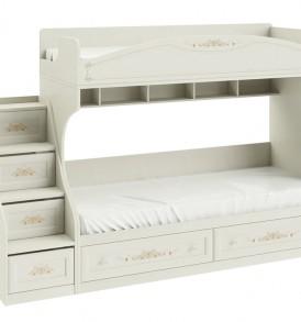 Кровать двухъярусная с приставной лестницей «Лючия» СМ-235.11.01