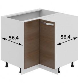 Шкаф нижний угловой с углом 90° НУ90_72_2ДР(НУ)