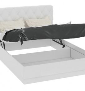 Кровать 1400 с подъемным механизмом с мягкой спинкой «Амели» СМ-193.02.004