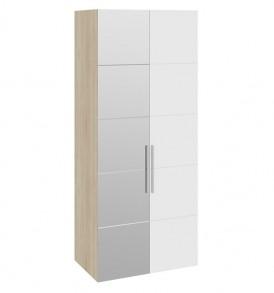 Шкаф для одежды с 1-й глухой и 1-й зеркальной дверями левый «Ларго Люкс» СМ-181.07.011 L