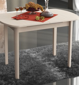 Стол обеденный раздвижной на деревянных ножках «Милан» СМ-203.21.11